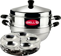 iBELL IP10P2MULTI Stainless Stell Idli Pot/Steamer with Kadai, 2 Plate, 10 Idly, High Food Grade Stainless Steel, Silver Induction & Standard Idli Maker(2 Plates , 10 Idlis )