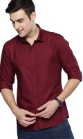 STYLETHIC Men Solid Formal Maroon Shirt