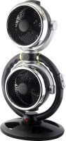 BMS Lifestyle BES-10A Dual Head Design Cooling Electric Fan Multi-Angle Freely Rotating Turbine Convection Air Circulation Fan 120 mm 3 Blade Table Fan(BLACK, Pack of 1)
