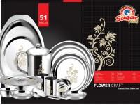 Sagar Pack of 51 Stainless Steel Sagar Stainless Steel Stainless Steel Dinner Set - 51 Pieces, Dinner Set