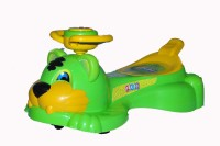 DOLFIN Attractive Green Lion Musical Magic Swing Car Kid's Favourite Car Car Non Battery Operated Ride On(Blue)