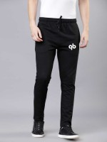 Qutty Bee Solid Men Black Track Pants