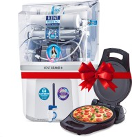 KENT Grand Plus with Pizza & Omelette Maker 9 L RO + UV + UF + TDS Control + UV in Tank Water Purifier(White)