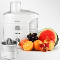 iBELL 300-W JU1400SG Juicer / Juice Maker, Includes Juicer Jar, Citrus Juice Extractor Copper Motor and Detachable Pulp Collector (White) 300 Juicer(White, 1 Jar)