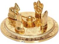 FOBHIYA Metal Shiv Parivar Idol Lord Shiva Family Statue (Shivling, Parvati, Ganesh, Kartikeya, Nandi), Decorative Puja Showpiece, Made in India Best For Gifting (Gold) Decorative Showpiece  -  1.5 cm(Brass, Gold)