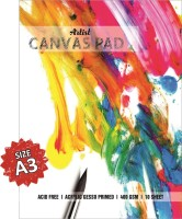 VARIETY A3 Cotton Acid Free Canvas Pad (Set of 10)(White)