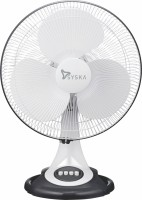 Syska BRISA 400 mm Silent Operation 3 Blade Table Fan(White, Pack of 1)