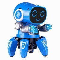 SALEOFF Pioneer Walking & Dancing Electronic Bot Robot Toy for Kids with Disco Flashing Lights and Dance Music Battery Operated(Blue)