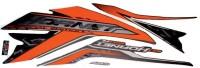 HRBull Sticker & Decal for Bike(Orange, Black)