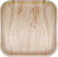 Woodka Disposable 10 inch Square Plate Dinner Plate(25 Dinner Plate)