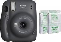 FUJIFILM Instax Mini 11 with Twin Pack Instant Camera(Grey)