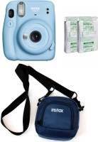 FUJIFILM Instax Mini 11 Blue with 20 Shots film and pouch Instant Camera(Blue)