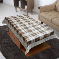 FAIRY HOME Solid 4 Seater Table Cover(Brown, Plastic)