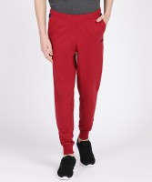 FILA Solid Men Red Track Pants