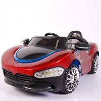 Ayaan Toys Battery Operated Ride On Masera Kids Car with Front Lighting System for Kids 1 to 4 Years Car Battery Operated Ride On(Red)