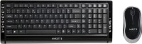 Amkette Black Diamond Wireless Desktop Keyboard and Mouse Combo(Black)