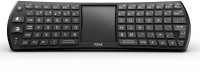 HiTechCart Mini 2.4Ghz 78-Key Touchpad Combo with 6-axis Remote mouse function for Smart TV Laptop Tablet Desktop Wireless Laptop Keyboard(Black)