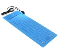 View Fingers Flexible Wired USB Laptop Keyboard(Blue) Laptop Accessories Price Online(Fingers)