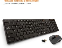 View Amkette Optimus Wireless Laptop Keyboard(Black) Laptop Accessories Price Online(Amkette)