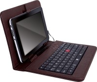Iball TabKey K6 Wired USB Tablet Keyboard(Brown)