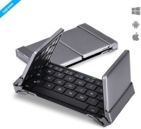 Zaap Trifold PRO Bluetooth Keyboard Magnetic Tablet Keyboard(Grey)