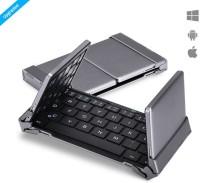 Zaap Trifold PRO Bluetooth Keyboard Magnetic Tablet Keyboard(Grey)