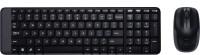 Logitech MK 215 Mouse Combo & Wireless Laptop Keyboard(Black)