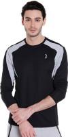 Campus Sutra Color Block Men Round or Crew Black| Grey T-Shirt