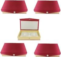 Addyz Pack of 5 Pcs Kangan Chudi Bangle small Travel Case Makeup Vanity Box Maroon