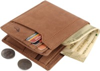 Bonbird Men Khaki, Brown Genuine Leather Wallet(6 Card Slots)