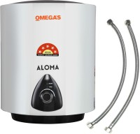 OMEGA'S 10 L Storage Water Geyser (10 L Geyser ALOMA Glass Lined (5 Star Rating), White, Black)