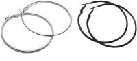 Vings-feel it Fashion Party Casual Silver Plated Alloy Hoop Ear Bali Ring Earrings for Women & Girls (Pack of 2) Alloy Hoop Earring