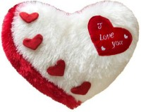PriMaryHoMe Love Heart Pillow Gift Items for Girlfriend/ Boyfriend/ Husband/ Wife/ Couples - Love Heart Shape Pillow (White)  - 37 cm(White)