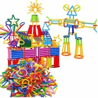 Assemble Interlocking Toys for Kids Connecting Toys Construction Toy Kit Building Blocks Bars Educational Preschool Learning Stem Toys Shaped(Multicolor)
