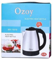 Ozoy Electric Kettle Fast Boiling Tea Kettle Cordless 2 LTR Automatic Multipurpose Large Size Tea Coffee Maker Water Boiler with Handle Electric Kettle (2 L, Silver, Black) Electric Kettle(2 L, Silver)