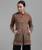 TRYCLO Solid Round Neck Casual Women Brown Sweater