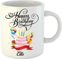 HuppmeGift Happy Birthday Ellis White 350 ml Ceramic Mug