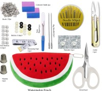 MGP Fashion Mini Sewing Kit for Home,Traveling,Tailoring,Fashion Designer,Boutique,Daily Needs Basic Purpose with Carrying Pouch Multiple Accesories Randomly Multi Color Chalk Button Thimmble Threader Needle Seam Ripper Scissor Tich Button Hook Measuring Tape Cutter set of tool Sewing Kit