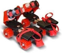 SIDOE Roller Skates Shoes For Kids / Childrens - UNISEX Quad Roller Skates - Size 5-9 UK (Multicolor) Quad Roller Skates - Size 5-12 UK(Red)