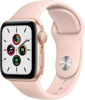 Apple Watch SE GPS 40 mm Gold Aluminium Case with Pink Sand Sport Band(Pink Strap, Regular)