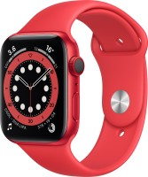 Apple Watch Series 6 GPS + Cellular 44 mm Red Aluminium Case with Product (Red) Sport Band(Red Strap, Regular)