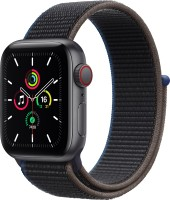 APPLE Watch SE GPS + Cellular 40 mm Space Grey Aluminium Case with Charcoal Sport Loop(Charcoal Strap, Regular)