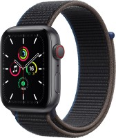 Apple Watch SE GPS + Cellular 44 mm Space Grey Aluminium Case with Charcoal Sport Loop(Charcoal Strap, Regular)