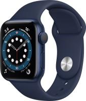 Apple Watch Series 6 GPS 40 mm Blue Aluminium Case with Deep Navy Sport Band(Blue Strap, Regular)