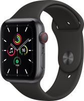 APPLE Watch SE GPS + Cellular 44 mm Space Grey Aluminium Case with Black Sport Band(Black Strap, Regular)