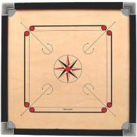 amrita gloss fine carrom 26 inch with coins an striker and caroom powder Carrom Board Board Game
