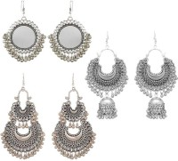 PRASUB Brings you Combo of 3 Designer Trendy Stylish Earrings for Women and Girls Sterling Silver Drops & Danglers