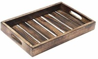 CART OF CRAFTS Mango Wooden Serving Tray for Coffee/Tea/Drinks for Living Room/Restaurant ( 29.2 x 17.8 x 2.5 Centimeters) Tray(Tray)