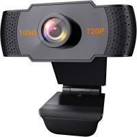 Tizum HD 720p Webcam, Widescreen Viewing Angle, Auto Light Correction, Noise-Reducing Mic, for Skype, FaceTime, Hangouts, Xbox, PC/Mac/Laptop/MacBook/Tablet  Webcam(Black)