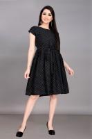BHK Studio Women A-line Black Dress